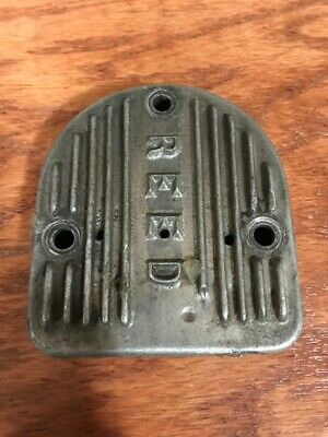 Vintage Kart Mccullough racing engine Mac reed exhaust cover