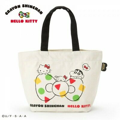 3e92378a0 SANRIO HELLO Kitty × Crayon Shin chan handbag bag From Japan F/S ...