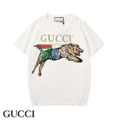 8cd67f29 2019 Gucci t-shirt tiger logo print white cotton for man and woman ALL SIZES