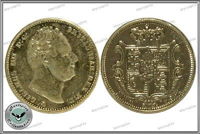 RESTRIKE 1831 King William IV Gold Plated Full Sovereign Coin
