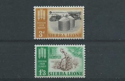 Sierra Leone SG255-256 1963 Freedom from Hunger Very Lightly Hinged Mint