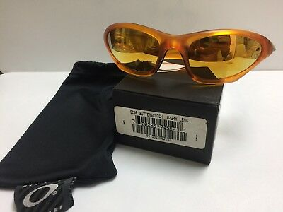 74d030d6a7 New Vintage Oakley Scar Butterscotch 24k Lenses (04-552)   box No Mars