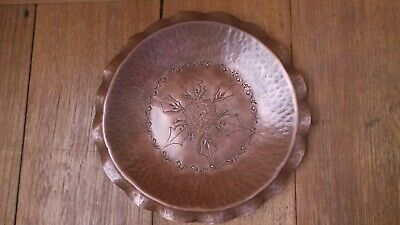 Vintage Solid Copper Bowl Made By Hand inTasmania Australia By Weeda