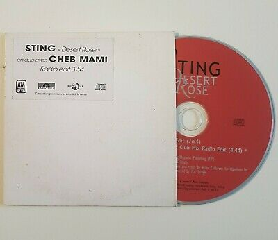 STING & CHEB MAMI : DESERT ROSE radio mixes ♦ FRENCH ONLY !  CD Single Promo ♦