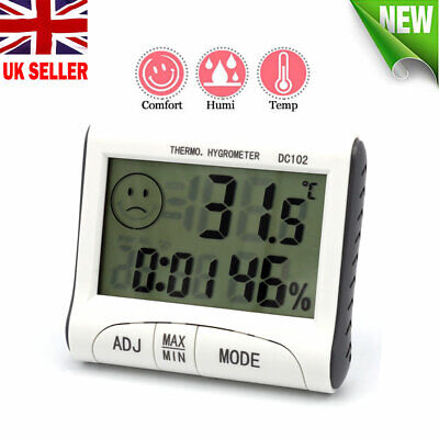 Digital LCD Humidity Meter Temperature Hygrometer Thermometer Indoor UK Stock