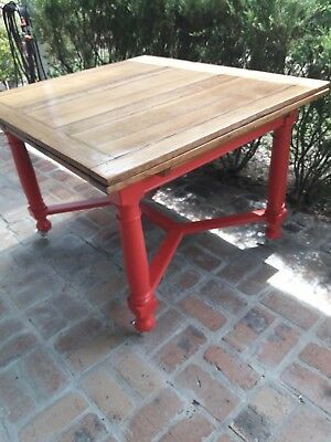 Antique Dining Table Extendable Solid Oak