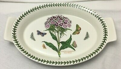 Portmeirion Botanic Garden - oval vegetable oven dish with handles 32cm - VG
