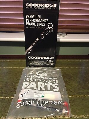 Goodridge Stainless Steel Braided Brake Lines Vauxhall Corsa D Rears NOT VXR