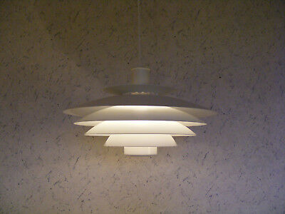 Danish FORM LIGHT 70s White Pendant Lamp - Mid Century Modern LYFA Fog Morup PH5