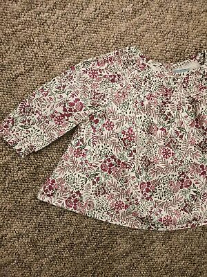 Baby Gap Flowery Long Sleeved Top Age 0-3 Months