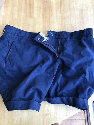 Tommy Jeans Women's Essential Chino Shorts Blue UK 12 US 8