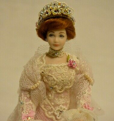 Miniature Doll Porcelain Lady Woman Dollhouse 1:12 Artist Made