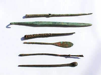 lot of 6  ancient Roman medical and perfume instruments.