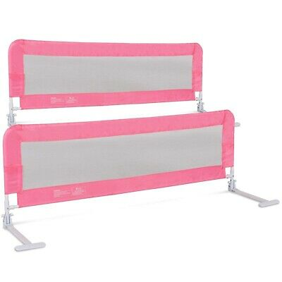 (150cm , Pink) - Costzon Toddlers Double Bed Rail Guard, Stainless Steel