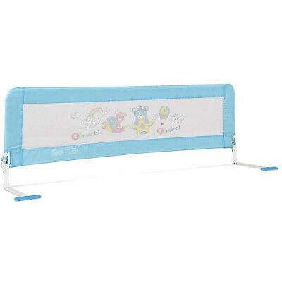 (180cm , Foamed+Pattern, Blue) - HONEY JOY Toddlers Bed Rail Guard, Stainless