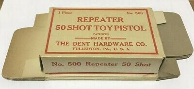 Lot Of 5 Repeater 50 Shot Toy Pistol Empty Boxes, NOS