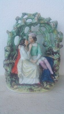 Antique stunning Staffordshire figure of courting couple UK, C1820