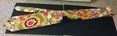 "Men's Vintage 1970s Tie, possibly hand made, very colourful, 50"" long approx."