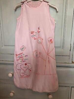 M&S Pink Baby Grow bag Age 6-12 Months 2.0 Tog