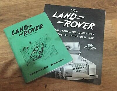 Land Rover Series 1 80 Operation Owners Manual & Sales Brochure