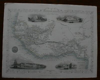 Western Africa original map by John Tallis published 1851