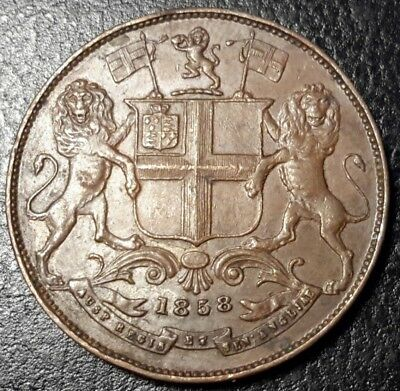 British India, East India Company 1858 - 1/4 anna - SUPERB, ALMOST UNC - LOVELY