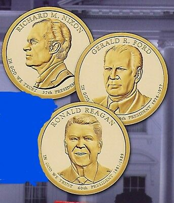 2016 P&D 6-Coin Presidential Dollar Series Set From Unc. US Mint Rolls or Bags