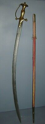 Antique Indo Persian Mughal Ottoman Islamic Curved Blade Sabre Sword & Scabbard