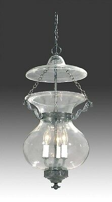 Bell Jar Light Chandelier Pendant Hall Lantern American Empire Antique Style