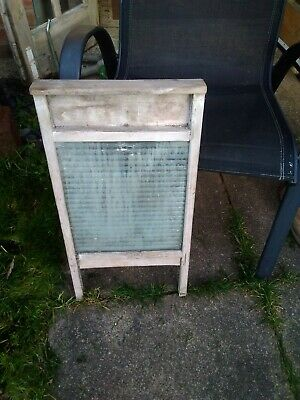 Vintage Wood And Glass Washboard