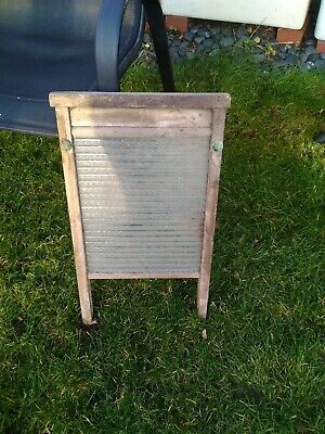 Wood And Glass Vintage Washboard