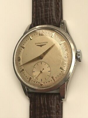 Vintage Longines 12.68z 1953 Tropical Guilloche Dial Ultra Rare 1268  -SERVICED