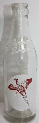 Very HTF Red White ACL Pheasant Beverages Soda Pop Bottle Aberdeen SD