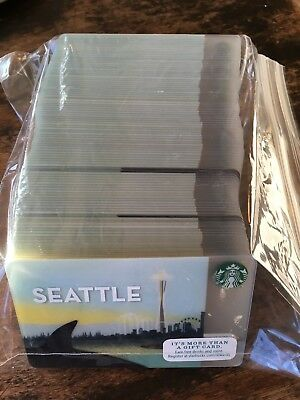 Lot Of 100 STARBUCKS CARD - SEATTLE CITY CARD - 2015 Orca Space Needle