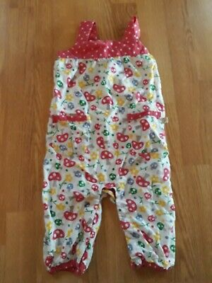 Frugi - Girls Dungarees - Toadstools - 3-6mths - Immaculate Condition