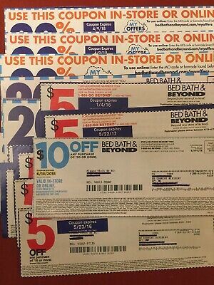 Bed Bath & Beyond coupons 20% off single purchase and $5 off $15 and $10 off $30
