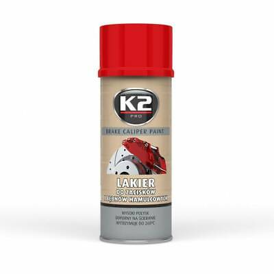(12,88 €/1L)  K2 Brake Caliper Paint 400 Ml Red - Bremssattellack Spray Rot