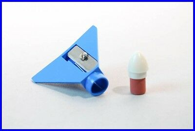 Bleistift Anspitzer Flugzeug /penny toy airplane blue pencil eraser & sharpener