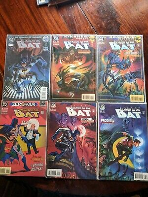 Lot of 6 D C Comics Shadow of The Bat 1994-No's 0 and 29-33-Excellent Condition!