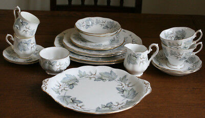 """Beautiful Royal Albert """"SILVER MAPLE"""" Dinner Tea Coffee Set for 2 or Additions"""