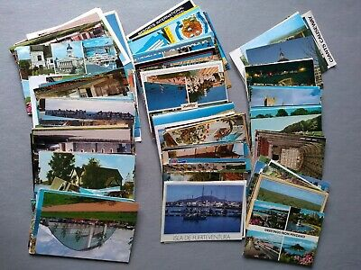 Job Lot Of Old Foreign & Uk Postcards