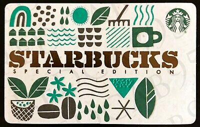 NEW 2019 Starbucks SPECIAL EDITION RECYCLED BURLAP Gift Card 6164 Series