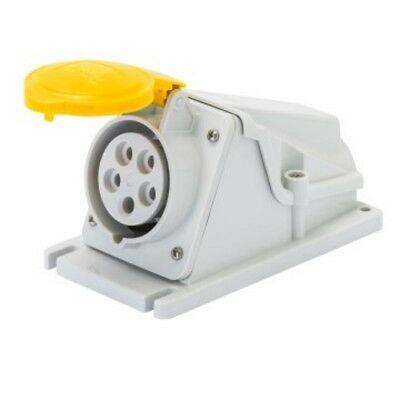 5 x GEWISS GW62485 110V 32a Industrial Yellow Socket