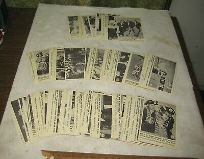 437F-1 Set Of Sixty Six 1966 Fleer Three Stooges Cards. No Damage Noted.