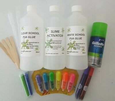 CLEAR PVA Glue with CLEAR Slime Activator Everything Needed for CLEAR Slime