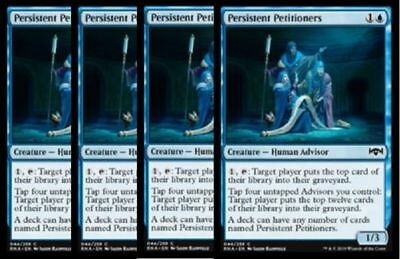 4 x Persistent Petitioners NM Ravnica Allegiance MTG Magic Gathering Blue Eng