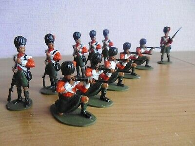 plastic toy soldiers 1/32 scots at waterloo volley fire 1