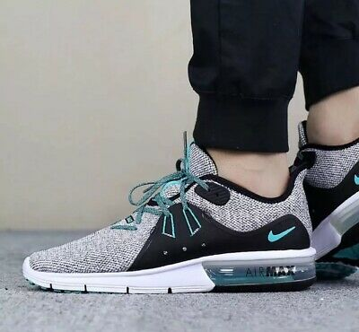 pretty nice 313f3 92482 Nike Air Max Sequent 3 921694 100 Hyper Jade Men s Running Shoes 100%  Authentic