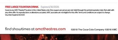(Qty: 10) AMC 1 Large DRINK Expires 06/30/2020