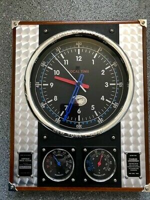 Charles Lindbergh Spirit of St. Louis Airfield Wall Clock, Temperature, Humidity